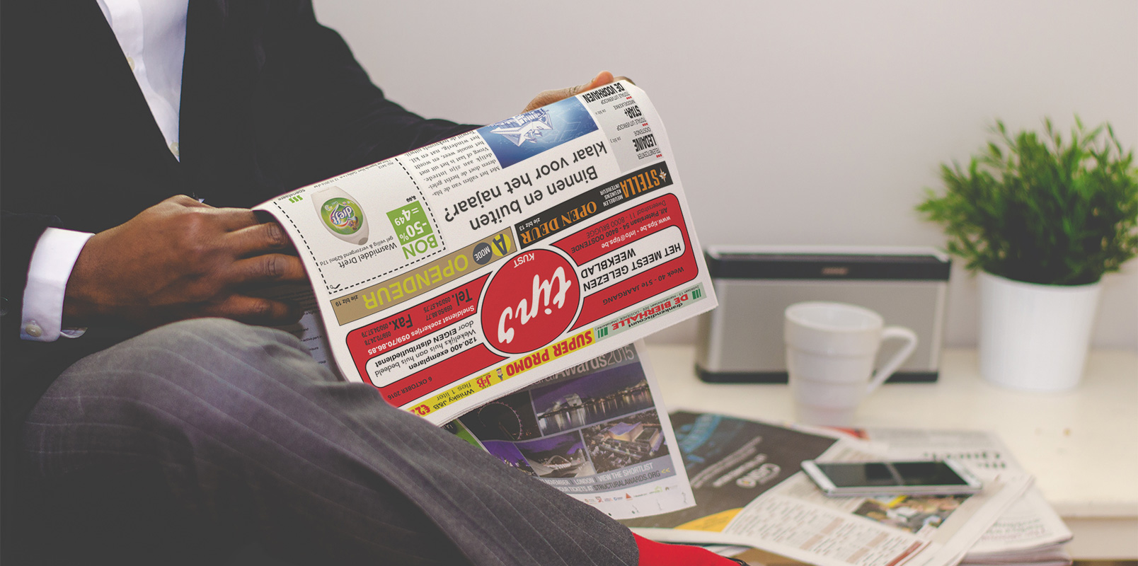 Man die Tips Weekblad leest