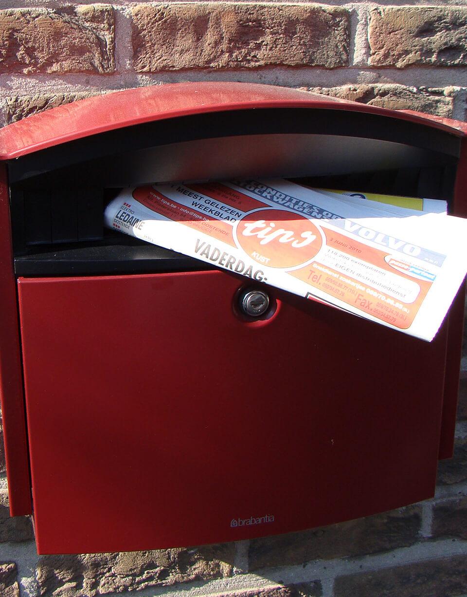Bedeling Tips Weekblad door eigen distributiedienst in uw brievenbus